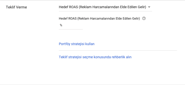 Hedef ROAS (Return on Ad Spend)
